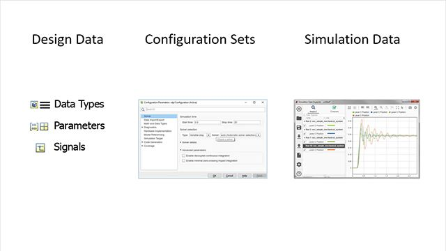 Learn how to manage design data in MATLAB and Simulink with a focus on Simulink capabilities, design tradeoffs, and use cases for managing data.