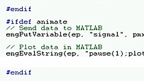 Call MATLAB from C, C++ or Fortran code using the MATLAB Engine Library.