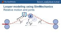 In this particular webinar you will learn how to use MathWorks products to model the looper-strip interaction for tension control.