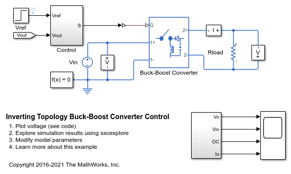 Pleasant Inverting Topology Buck Boost Converter Control Matlab Simulink Wiring 101 Taclepimsautoservicenl