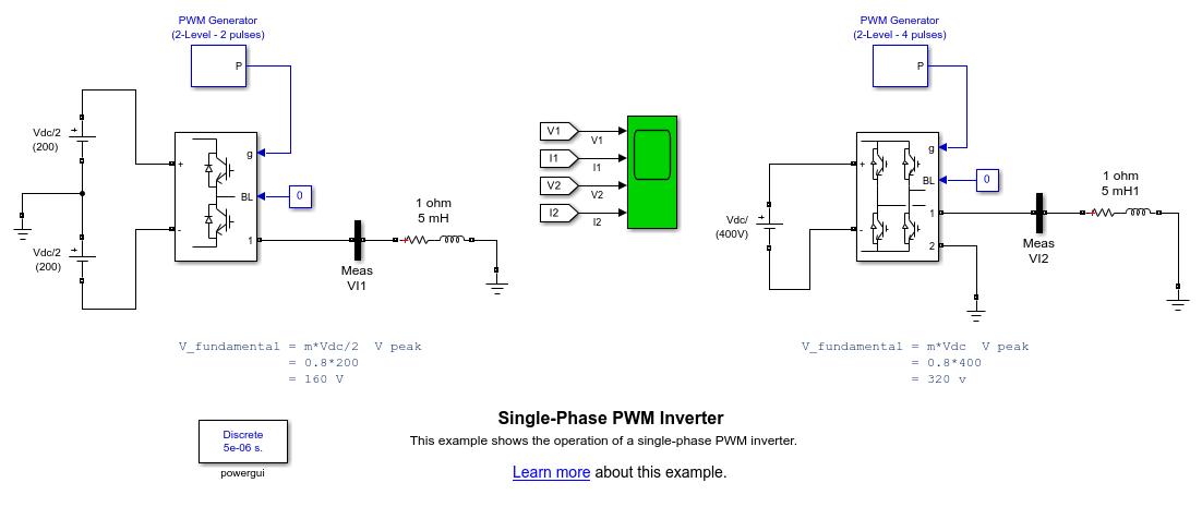 Single Phase Pwm Inverter Matlab Simulink
