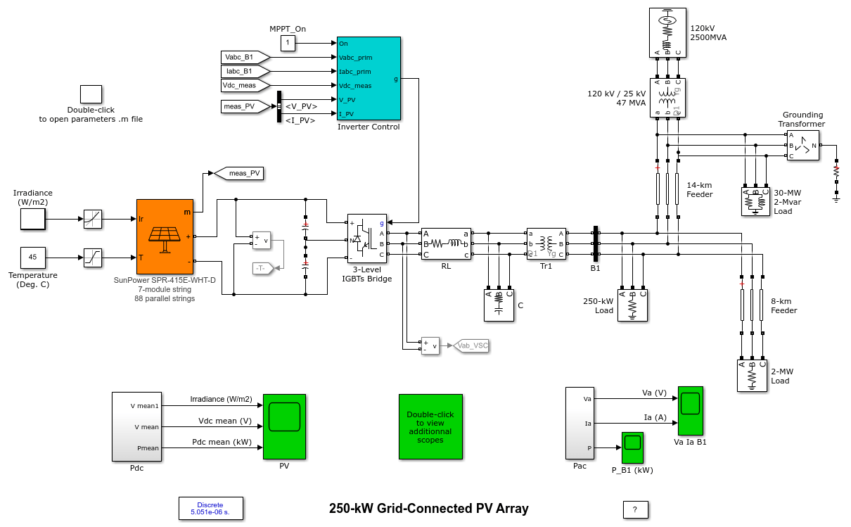 250 Kw Grid Connected Pv Array Matlab Simulink Solar Panel Wiring Diagram Pdf