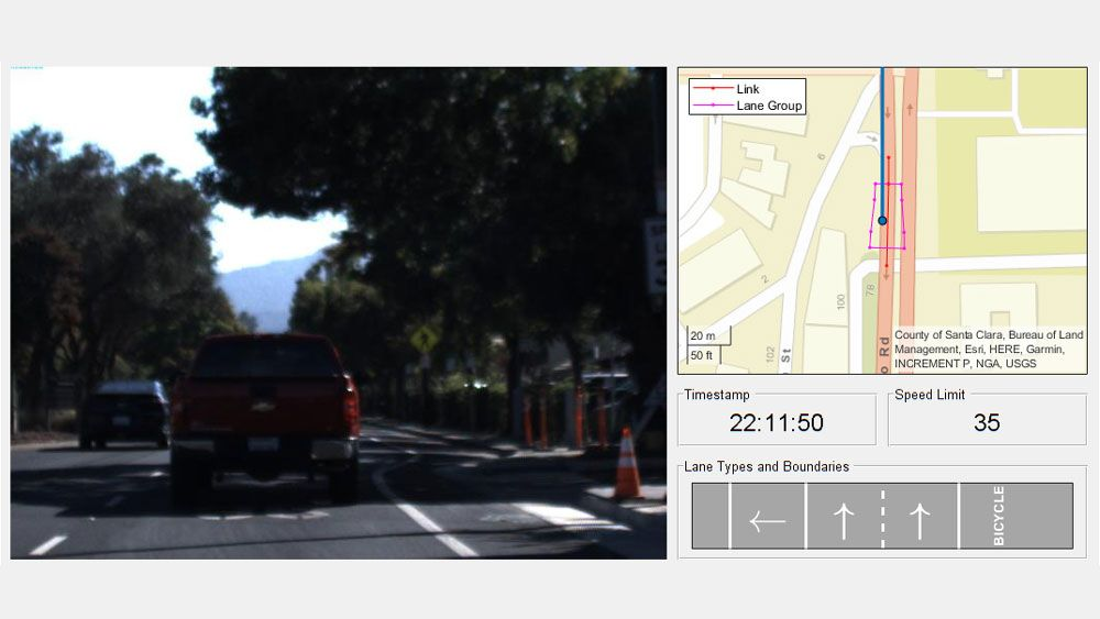 Using HERE HD Live Map to verify lane configurations.