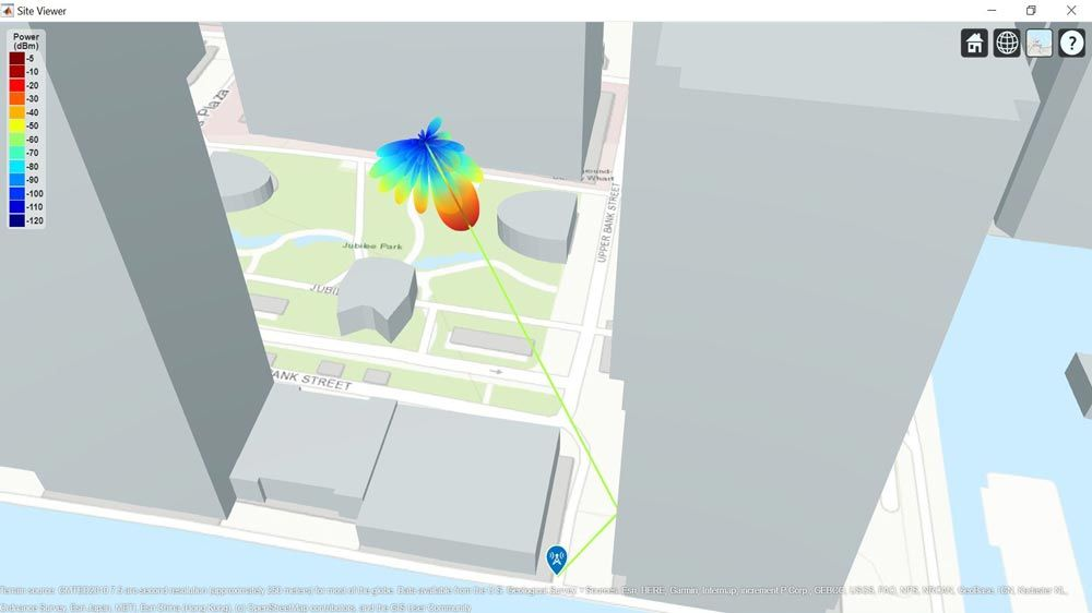 End-to-end QAM simulation with RF impairments