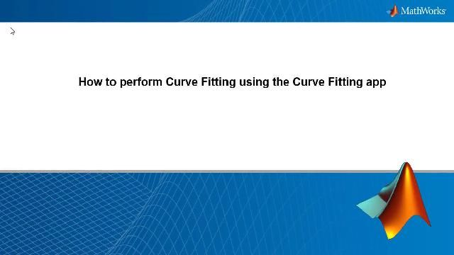 Learn how to perform curve fitting in MATLAB using the Curve Fitting app and fit noisy data using smoothing spline.