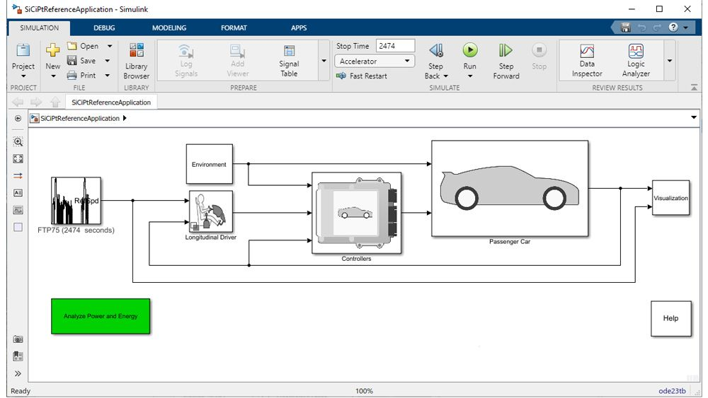 Reference application from Powertrain Blockset.