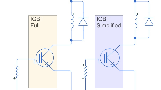 IGBT simplified and full models.
