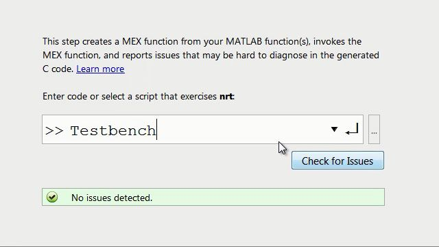 Work through common implementation constraints to prepare and generate C/C++ code using MATLAB Coder.